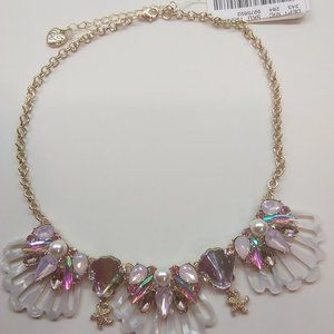Betsey Johnson New White Shell Necklace